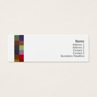 Color Squares - Skinny Mini Business Card