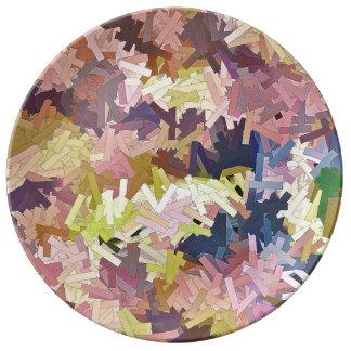 Color Stacks ecorative Porcelain Plate