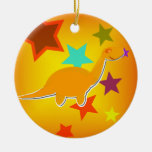 Color Stars Dinosaurs Ornament