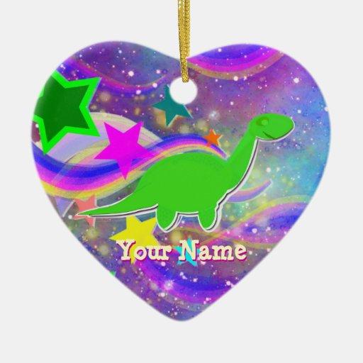 Color Stars & Swirl Sweet Dreams Dinosaur Ornament