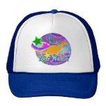 Color Stars & Swirls Cool Dinosaur Cap Mesh Hat