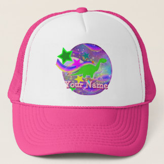 Color Stars & Swirls Cute Dinosaur Cap