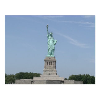 Color Statue of Liberty Under a Blue Sky Post Card