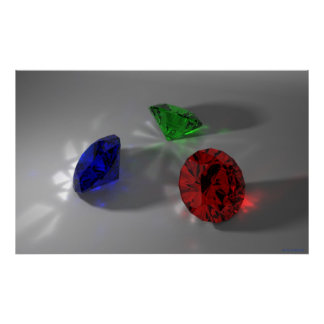 Color Stones (Red, Green, Blue) Poster