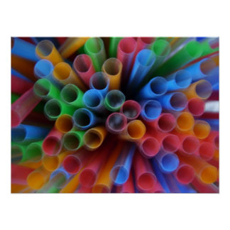 Color Straws Poster