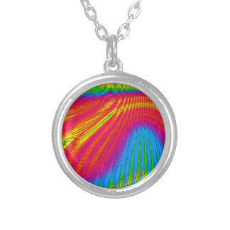 Color Streaks Silver Plated Necklace