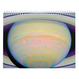 Color-Stretched Visible-Light Composite of Saturn Wall Calendar