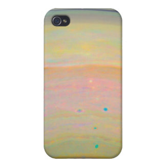 Color-Stretched Visible-Light Composite of Saturn Cover For iPhone 4