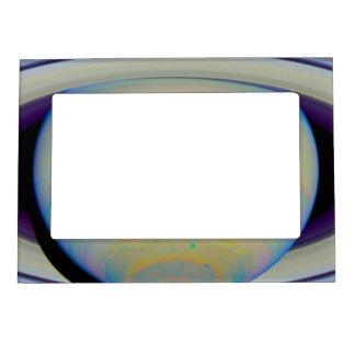 Color-Stretched Visible-Light Composite of Saturn Picture Frame Magnet