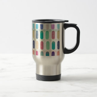 COLOR Strip Design Patterns Travel Mug