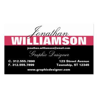 Color Stripe Dark Pink Bold Business Cards