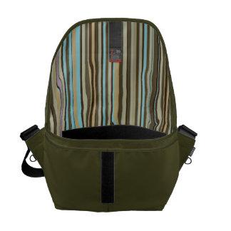 Color Striped Lining Man's Commuter Messenger Bag