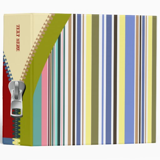 Color Stripes Avery Business Binder