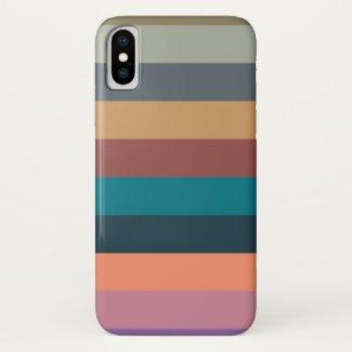 color stripes colorful pastel iPhone x case