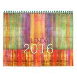 Color Stripes Contemporary Art Calendar 2016