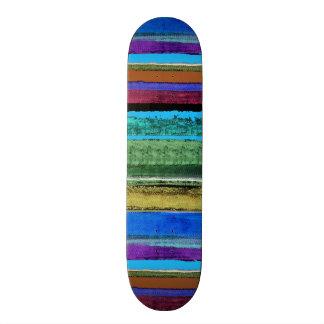 Color stripes for skater custom skate board