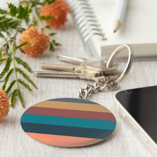 color stripes in colorful pastel basic round button keychain