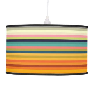 Color stripes in colorful pastel ceiling lamp
