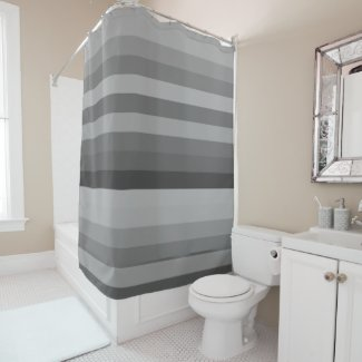 Color stripes in colorful pastel in Grey Shower Curtain