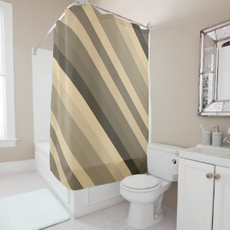 Color stripes in colorful pastel in Sepia Shower Curtain