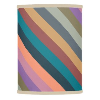 color stripes in colorful pastel lamp shade