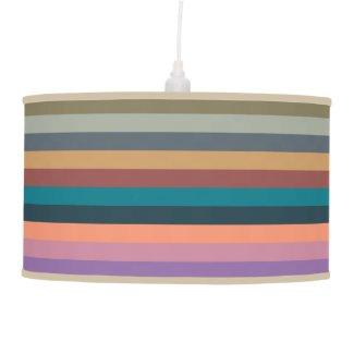 color stripes in colorful pastel pendant lamp