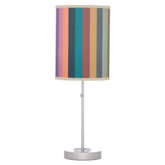color stripes in colorful pastel table lamp