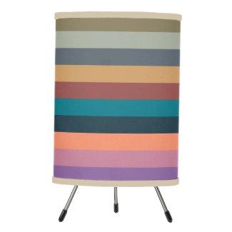 color stripes in colorful pastel tripod lamp