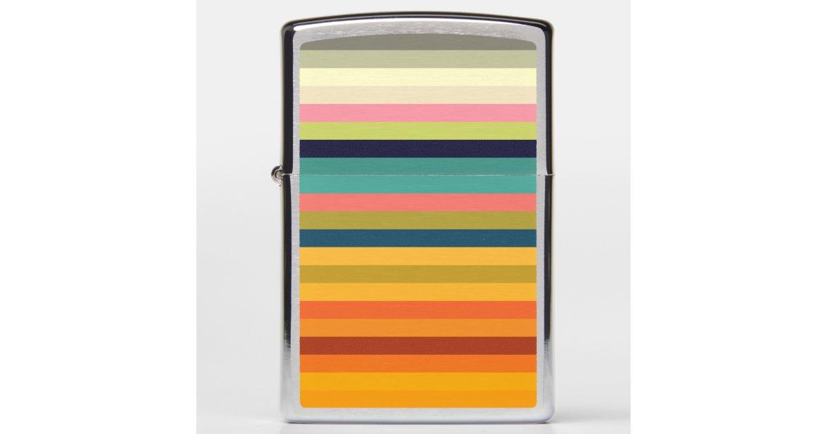 Color stripes in colorful pastel... zippo lighter | Zazzle.com
