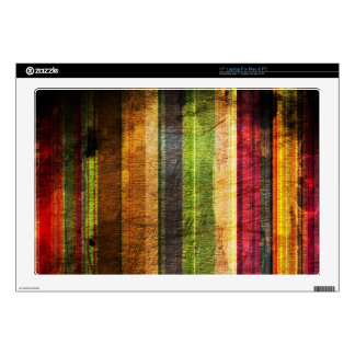 color stripes on wood pattern decal for laptop
