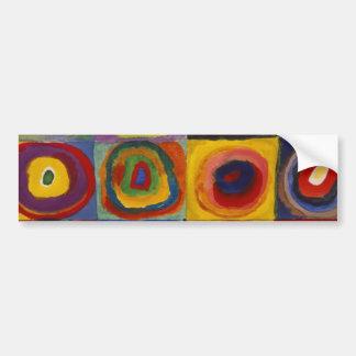 Color Study of Squares Circles Car Bumper Sticker