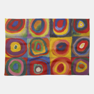 Color Study of Squares Circles by Kandinsky Hand Towel