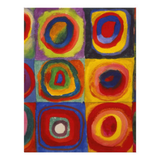 Color Study of Squares Circles by Kandinsky Letterhead