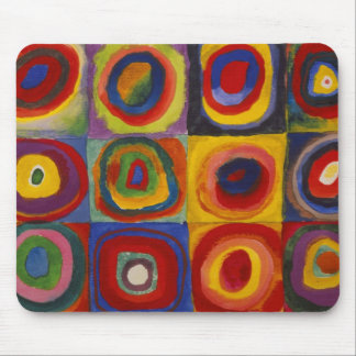 Color Study of Squares Circles by Kandinsky Mouse Pad