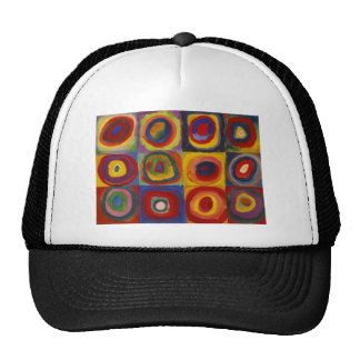 Color Study of Squares Circles by Kandinsky Trucker Hat