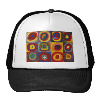 Color Study of Squares Circles Trucker Hat