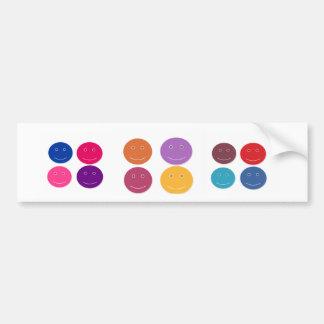 Color subject bumper sticker