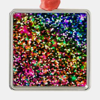 Color sublime adorno navideño cuadrado de metal