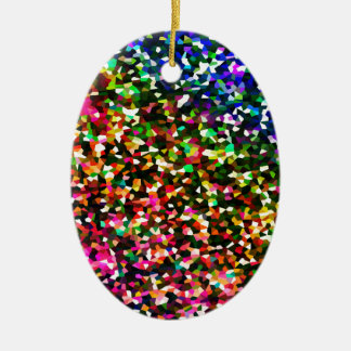 Color sublime adorno navideño ovalado de cerámica