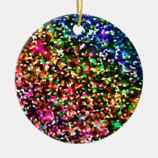 Color sublime adorno navideño redondo de cerámica