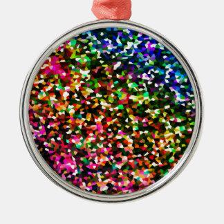 Color sublime adorno navideño redondo de metal