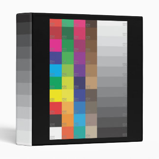 COLOR SWATCH AND GRAY SCALE 3 RING BINDER