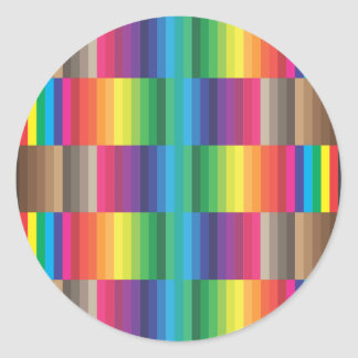 Color swatch CMYK Classic Round Sticker