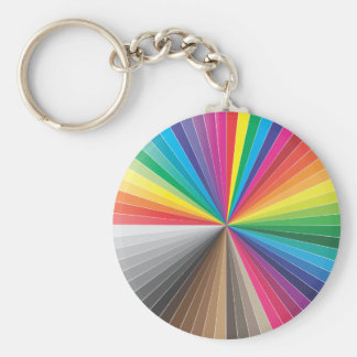 color swatches circle keychain