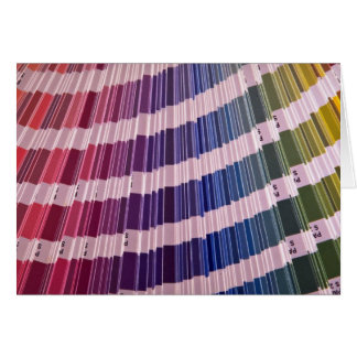 Color swatches greeting card