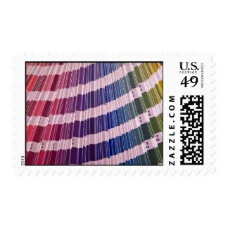 Color swatches postage stamp
