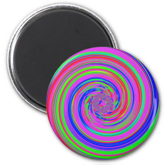 color swirl 2 inch round magnet
