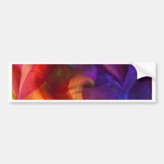 color swirl blue, purple,yellow,green,pink,white bumper sticker