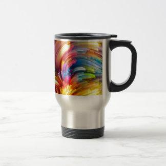 Color Swirl Design Travel Mug
