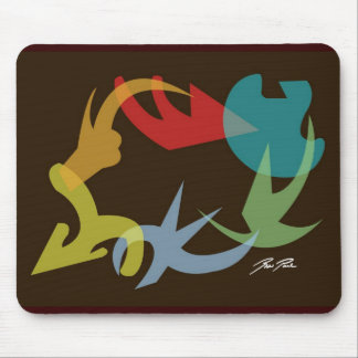 Color Swirl Figures Mouse Pad